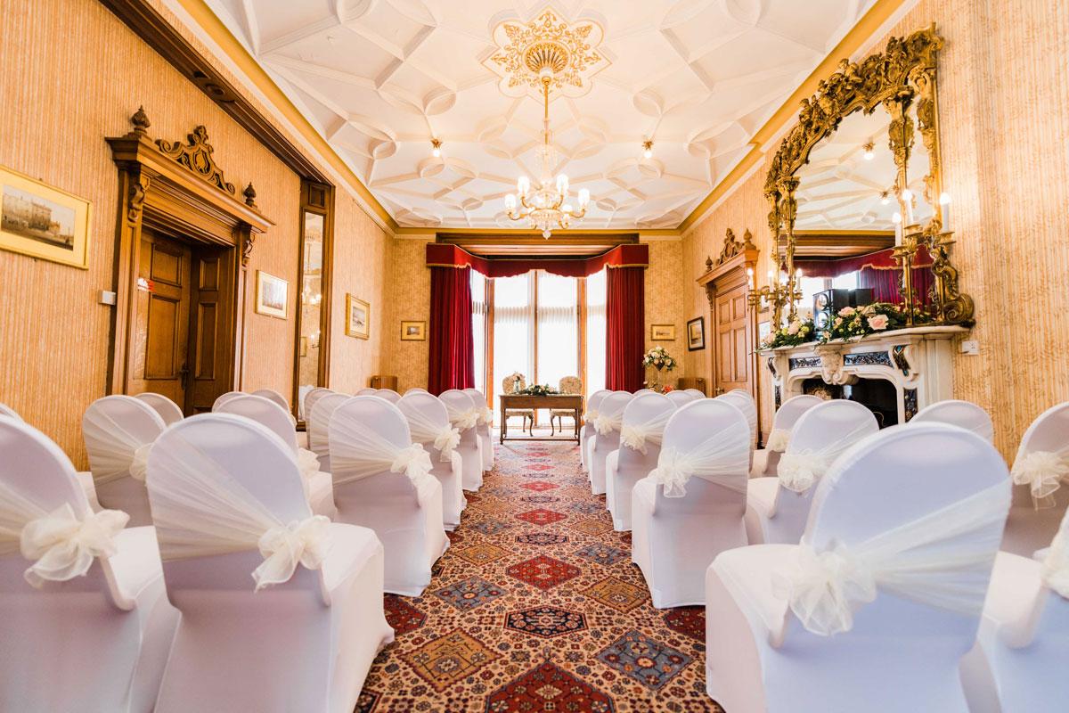 Civic Parlour arranged for a wedding