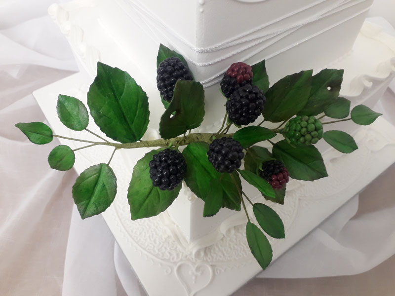 Wedding cake with bramble decoration