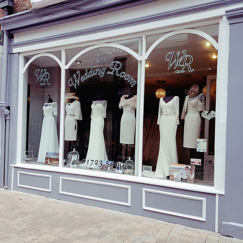 The Wedding Room shop front